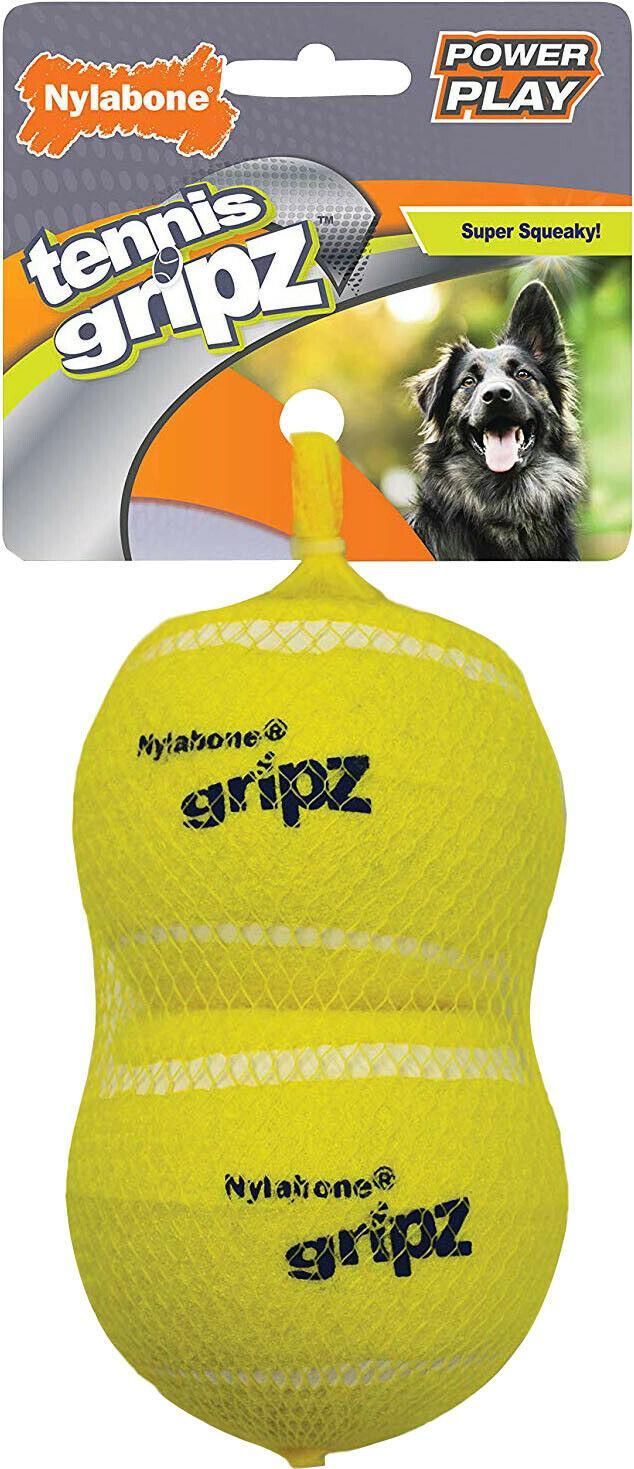 Nylabone Power Play Tennis Gripz Dog Toy, Large, 2-pk