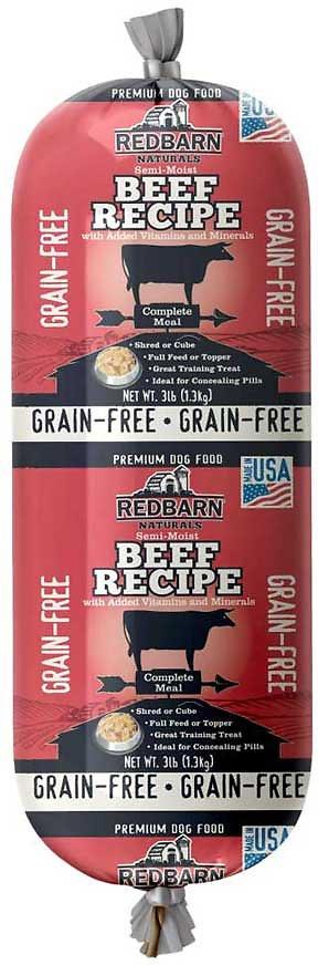Redbarn Naturals Grain-Free Beef Recipe Dog Food Roll, 3-lb roll