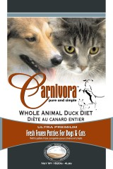 Carnivora Whole Animal Duck Diet Frozen Cat & Dog Food, 4-lb