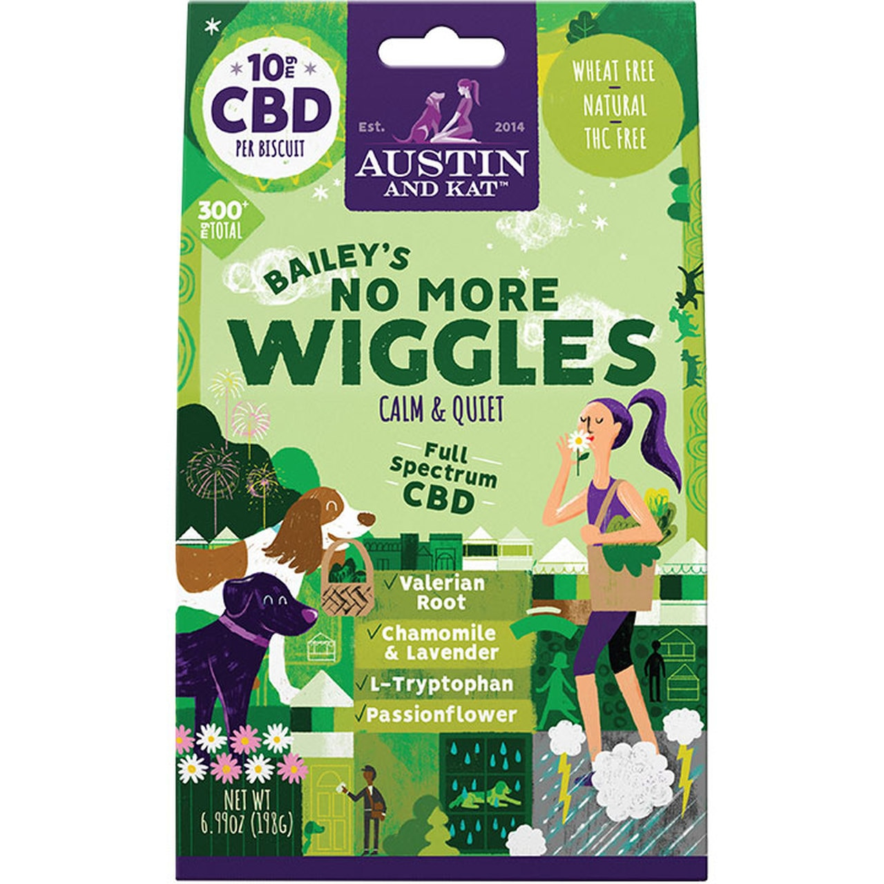 Austin And Kat No More Wiggles Calm And Quiet Biscuits, 10-mg, 30-Count