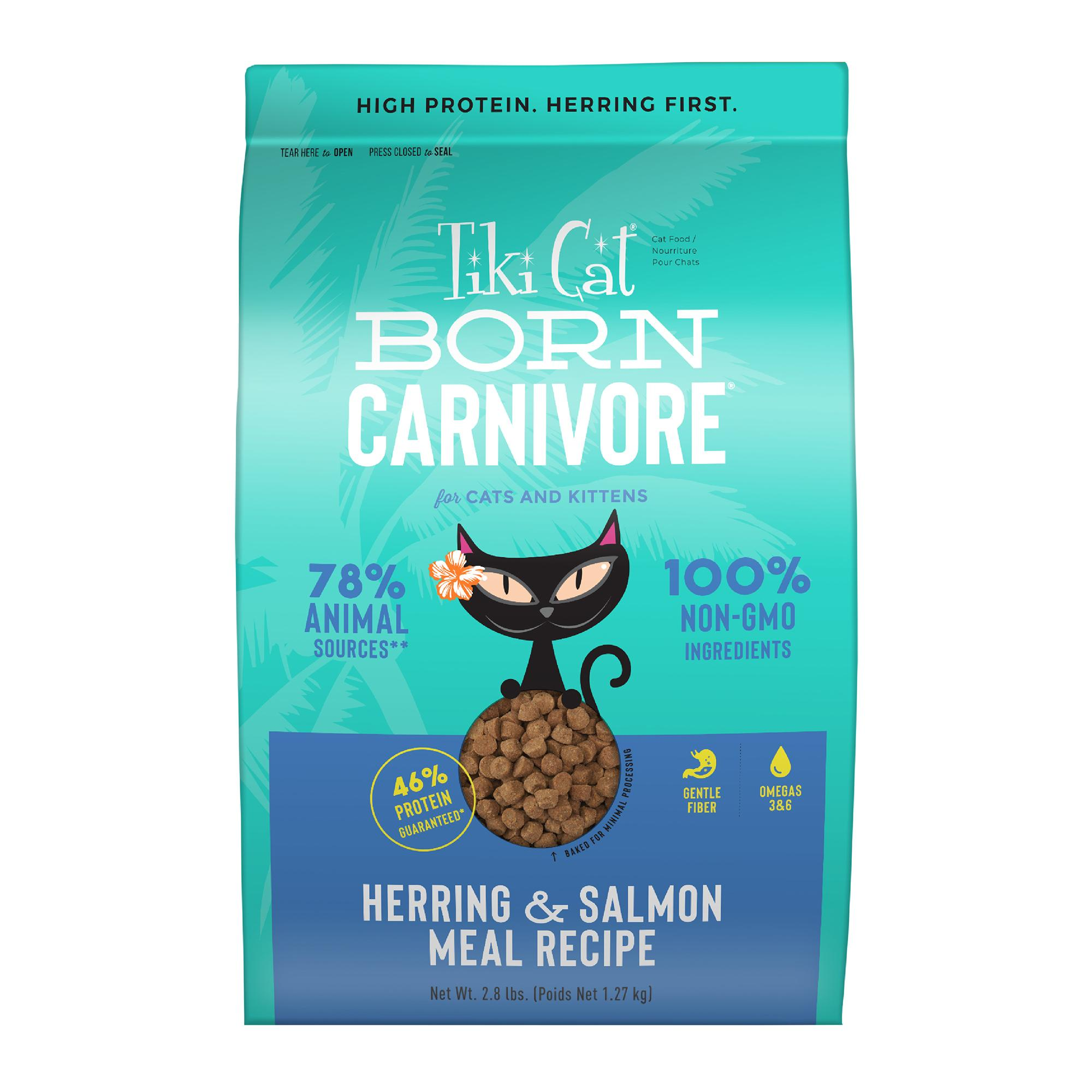 Tiki Cat Born Carnivore Herring & Salmon Dry Cat Food, 5.6-lb bag