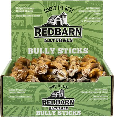 "Redbarn Braided Bully Sticks 12"" Dog Treats, Case of 25"
