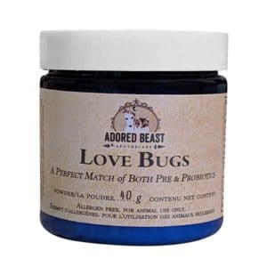 Adored Beast Love Bugs Pre & Probiotic for Dogs & Cats, 80-gram