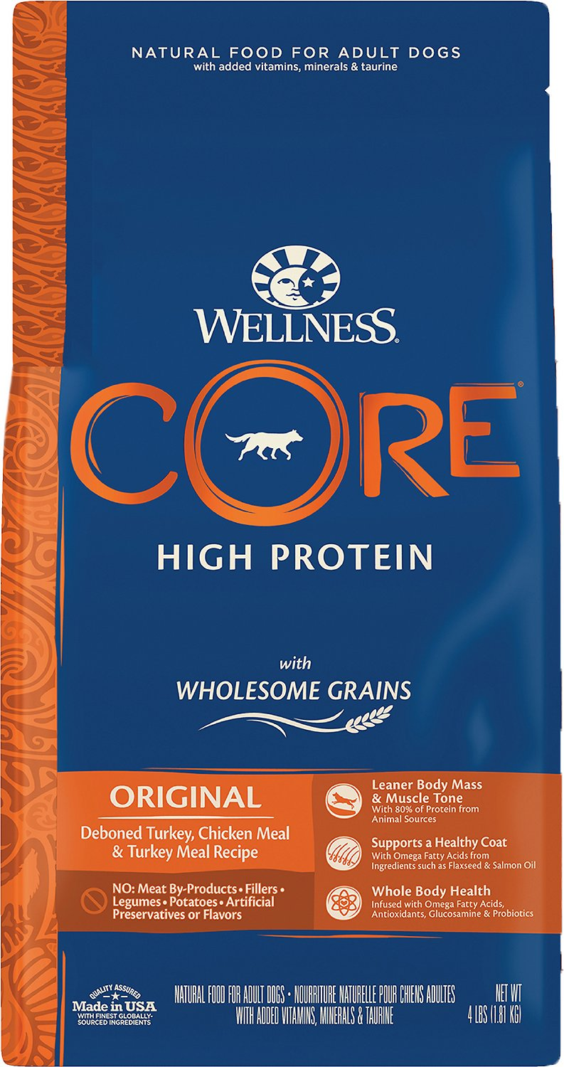 Wellness CORE Wholesome Grains High Protein Original Dry Dog Food, 4-lb