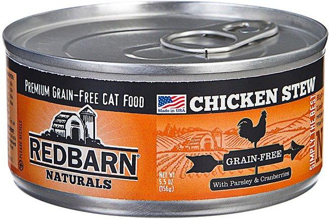 Redbarn Naturals Chicken Stew Grain-Free Canned Cat Food, 5.5-oz