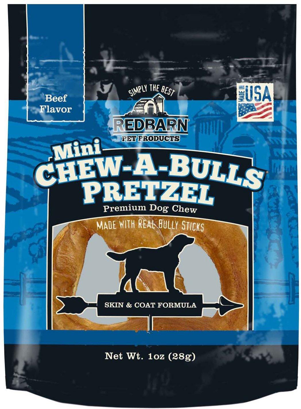 Redbarn Chew-A-Bulls Mini Pretzel Beef Flavor Dog Treat, 1-count
