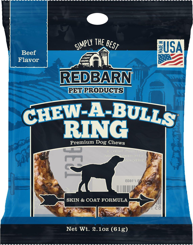 Redbarn Beef Flavor Skin & Coat Formula Chew-A-Bulls Ring Dog Treat, 1-count
