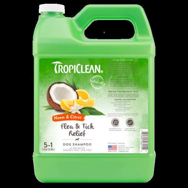 TropiClean Neem & Citrus Flea & Tick Relief Pet Shampoo Image