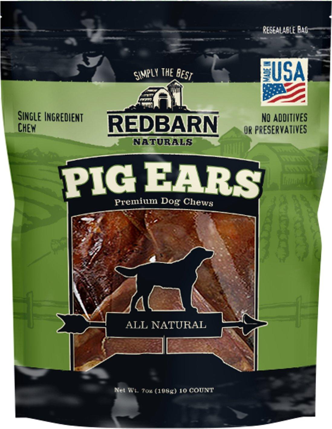 Redbarn Natural Pig Ears Dog Treats