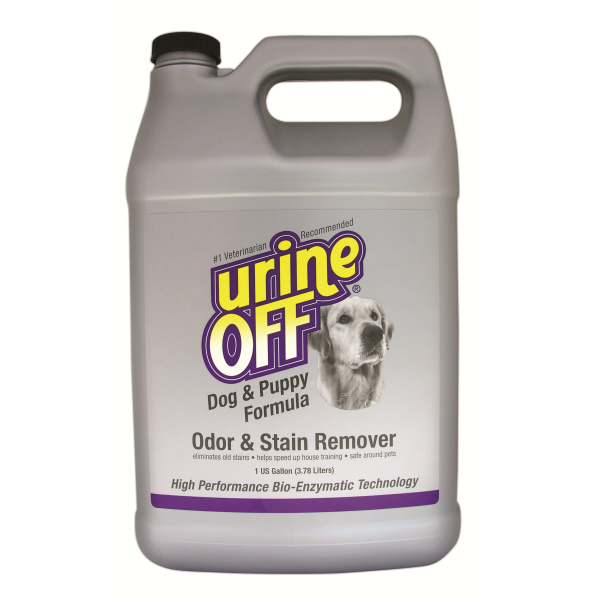 Urine Off Odor & Stain Remover for Dogs & Puppies, 1-gallon