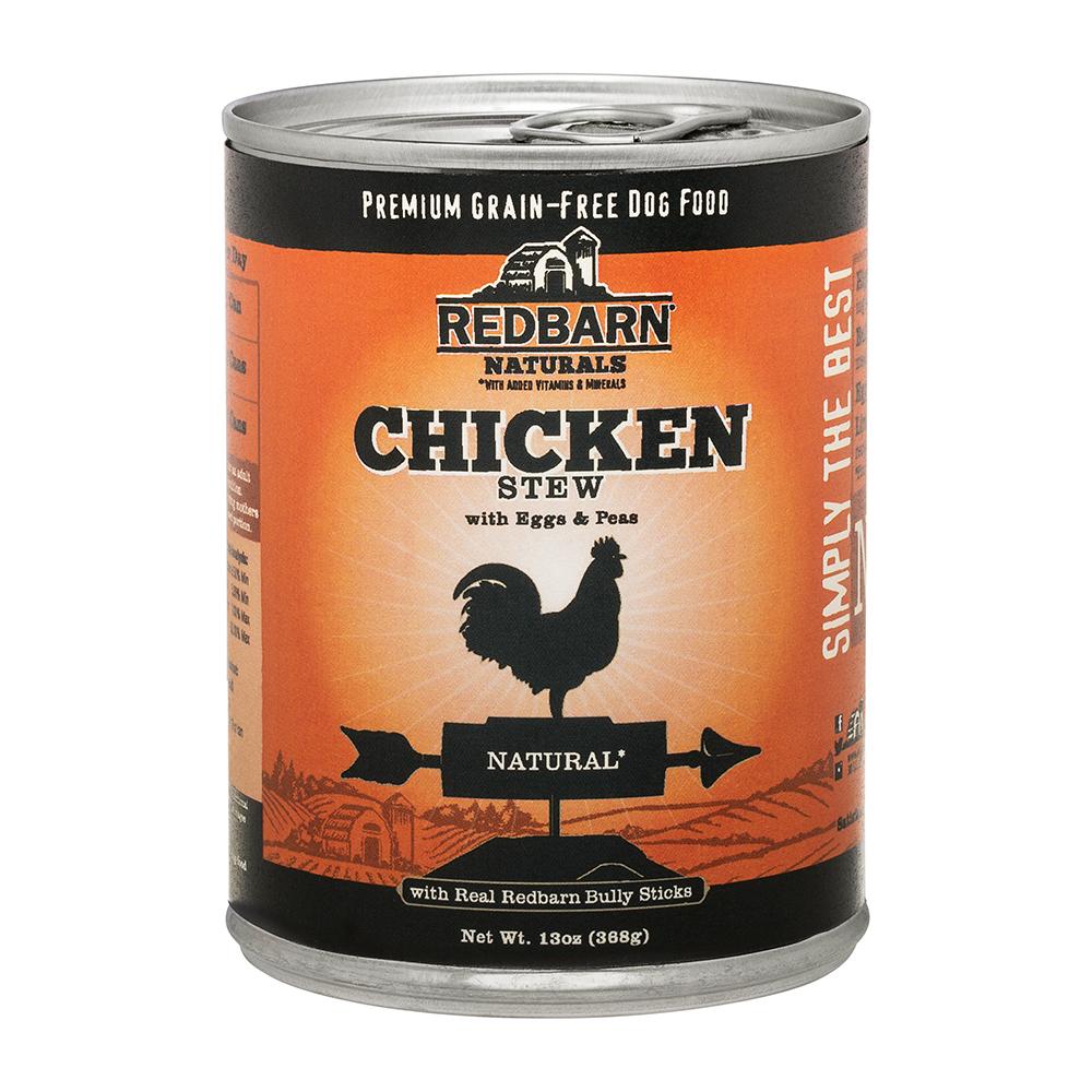 Redbarn Naturals Chicken Stew Grain-Free Canned Dog Food, 13-oz
