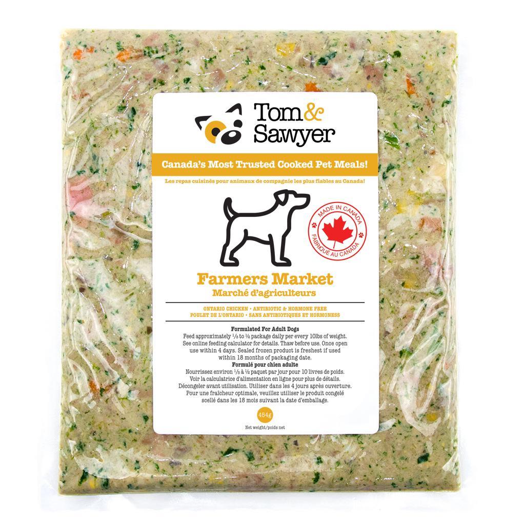 Tom&Sawyer Farmers Market Frozen Dog Food, 454-gram