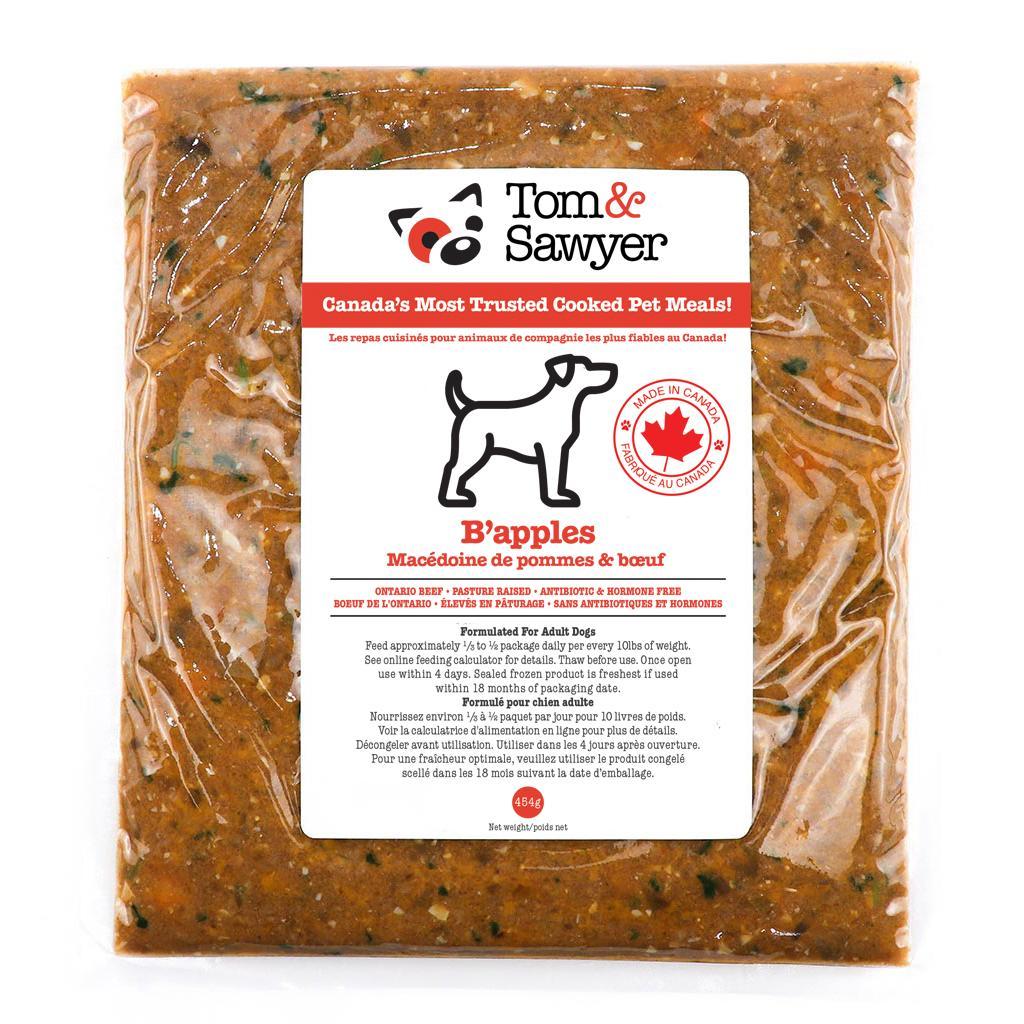 Tom&Sawyer B'Apples Frozen Dog Food, 454-gram