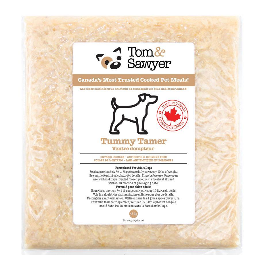 Tom&Sawyer Tummy Tamer Frozen Dog Food, 454-gram Size: 454-gram