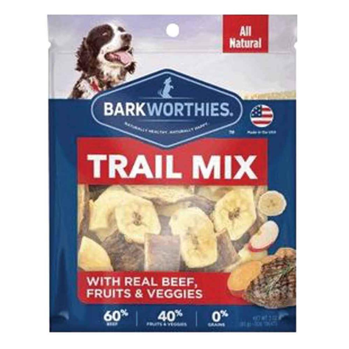 Barkworthies Trail Mix Real Beef, Fruits & Veggies Dog Treats, 3-oz (Size: 3-oz) Image