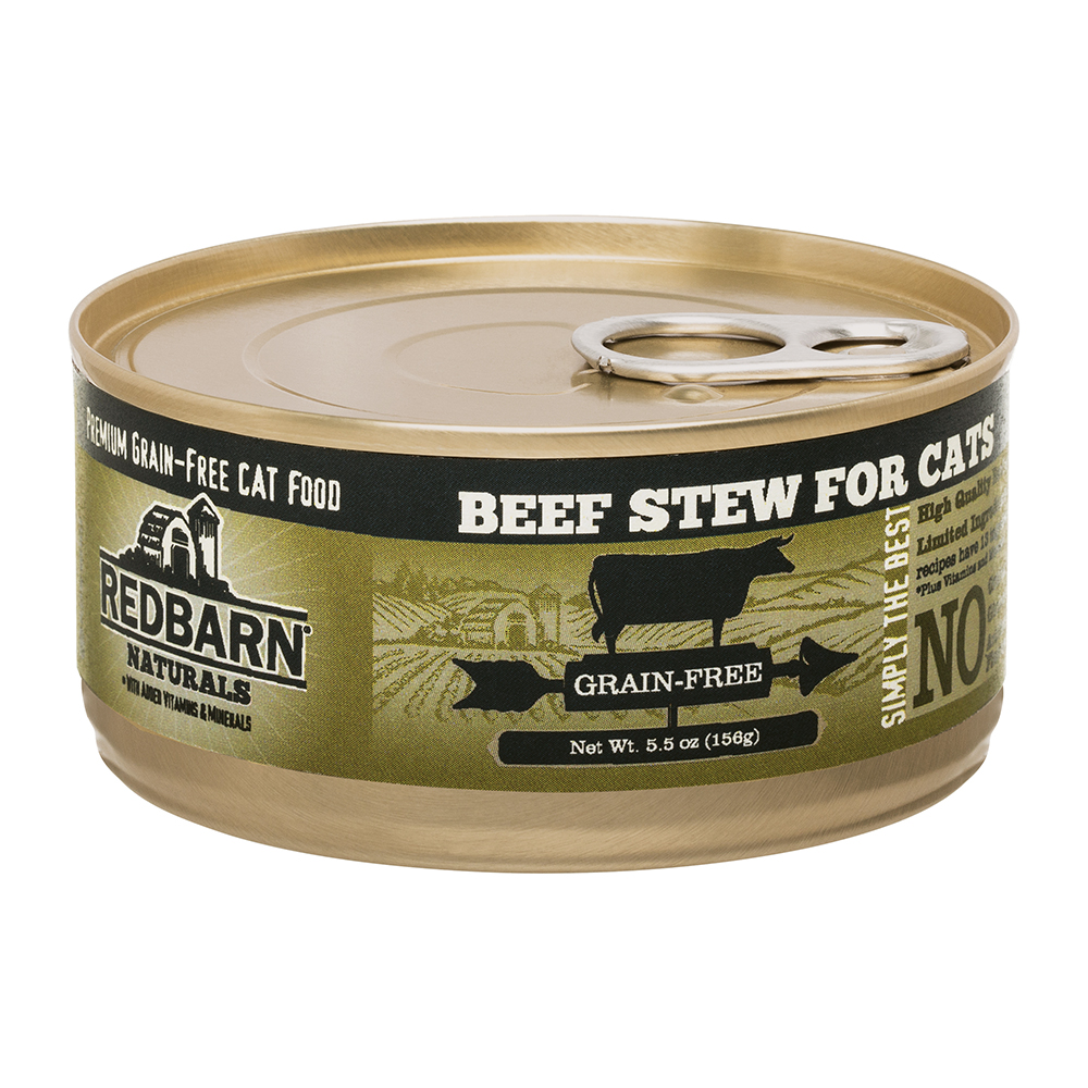 Redbarn Naturals Beef Stew Grain-Free Canned Cat Food, 5.5-oz