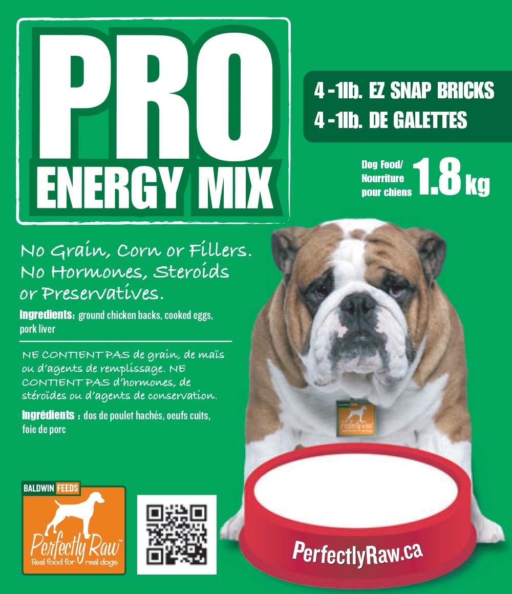 Perfectly Raw Pro Energy Mix Frozen Dog Food, 4-lb