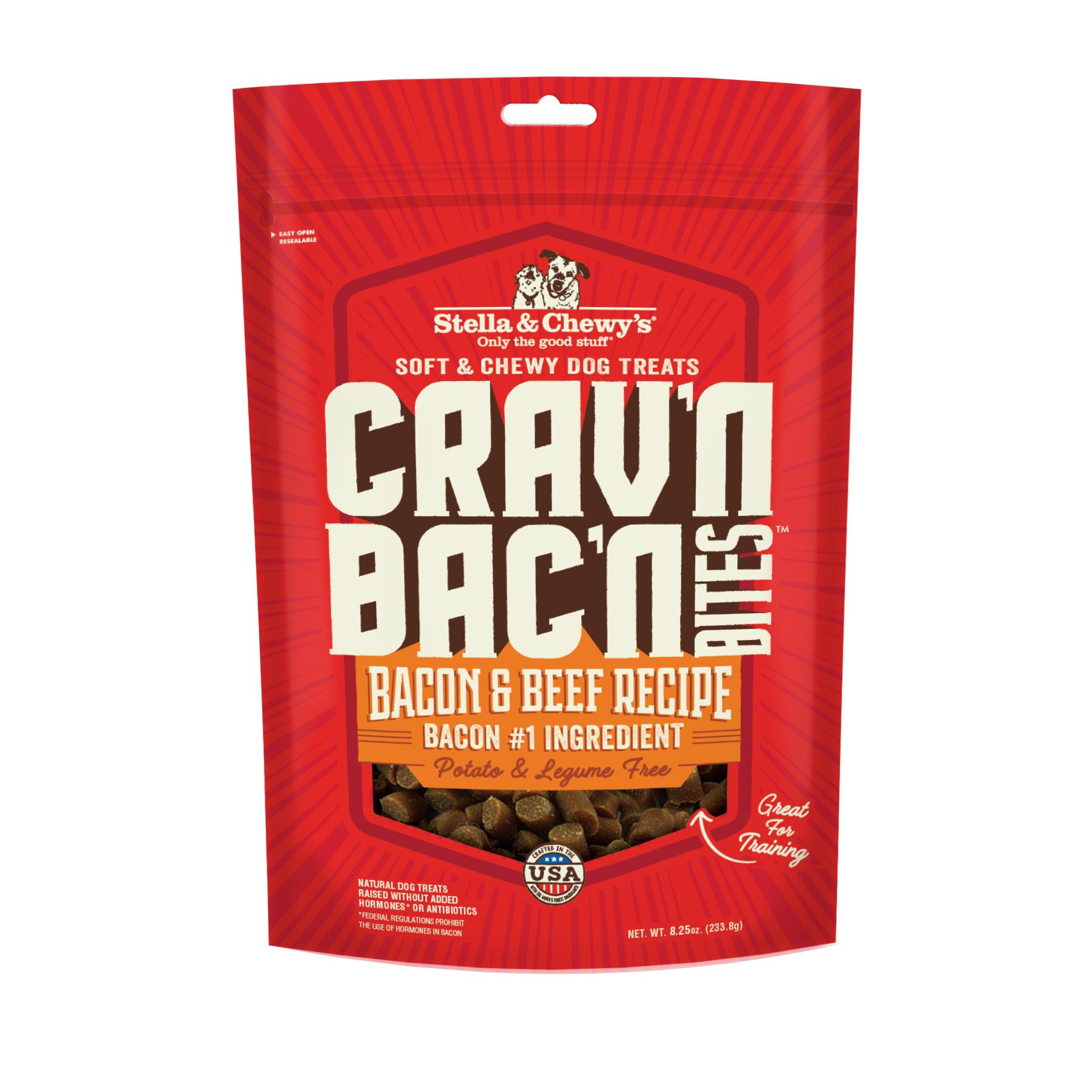 Stella & Chewy's Crav'n Bac'n Bites Bacon & Beef Recipe Dog Treats Image