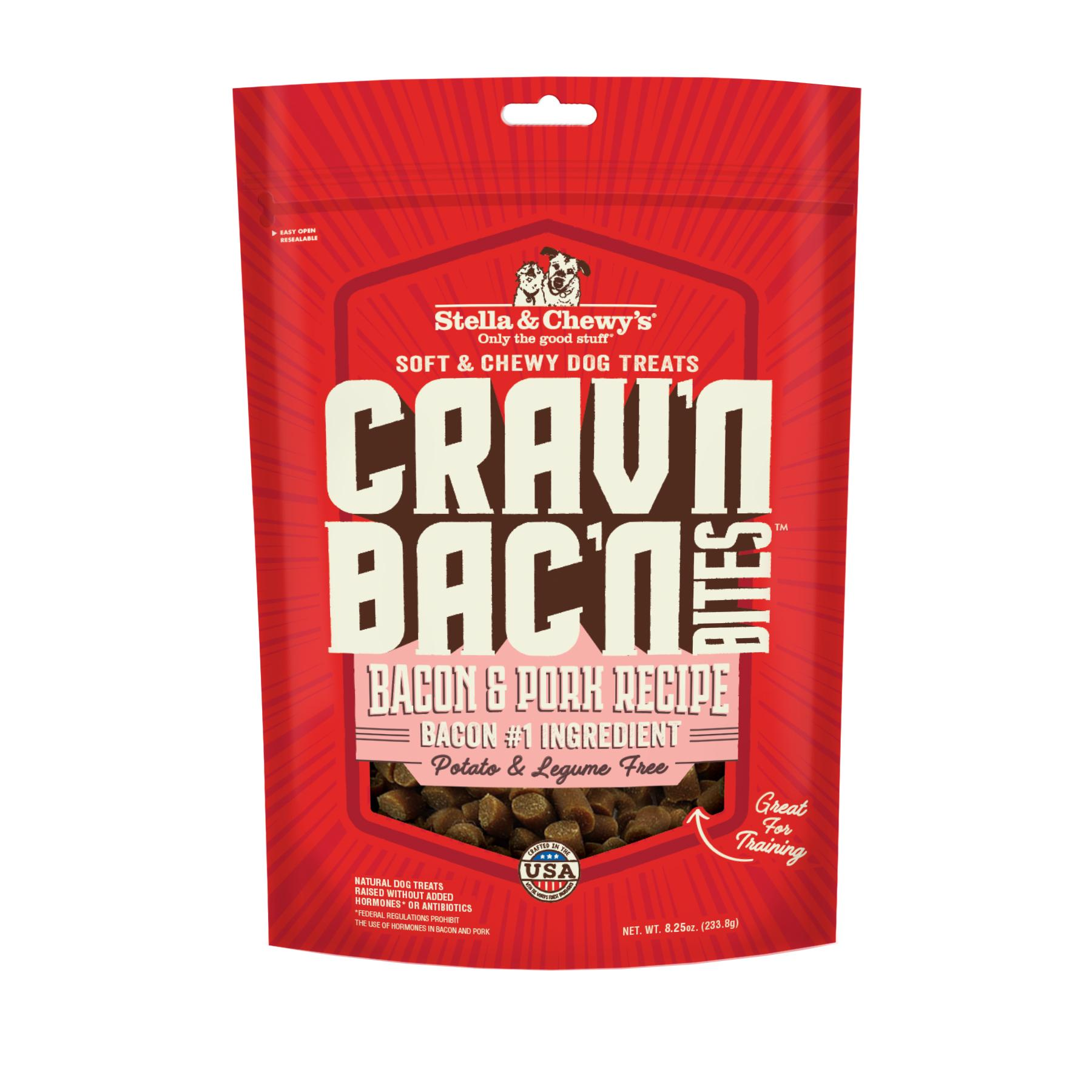 Stella & Chewy's Crav'n Bac'n Bites Bacon & Pork Recipe Dog Treats Image