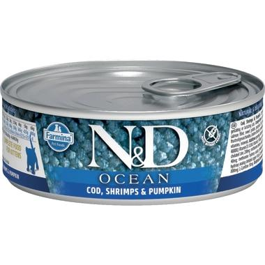 Farmina N&D Ocean Cod, Shrimp & Pumpkin Kitten Wet Cat Food, 2.8-oz
