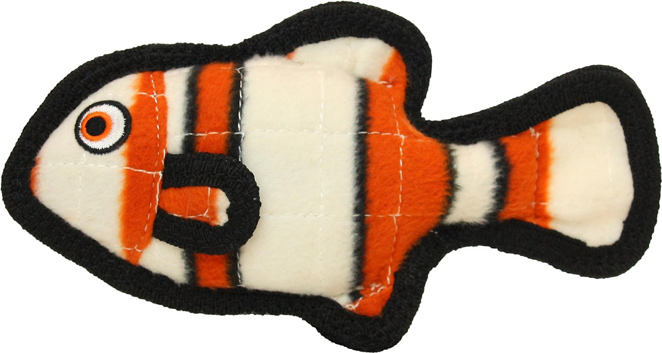 Tuffy's Fish Orange Dog Toy, Junior
