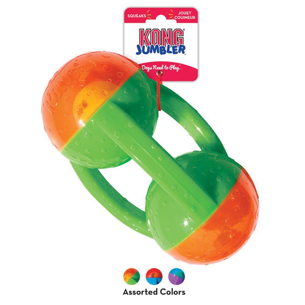 KONG Jumbler Tri Dog Toy, Assorted Colors, Large/X-Large