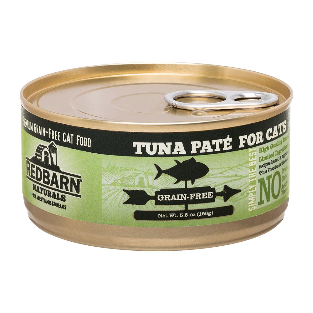 Redbarn Naturals Tuna Pate Grain-Free Canned Cat Food, 5.5-oz