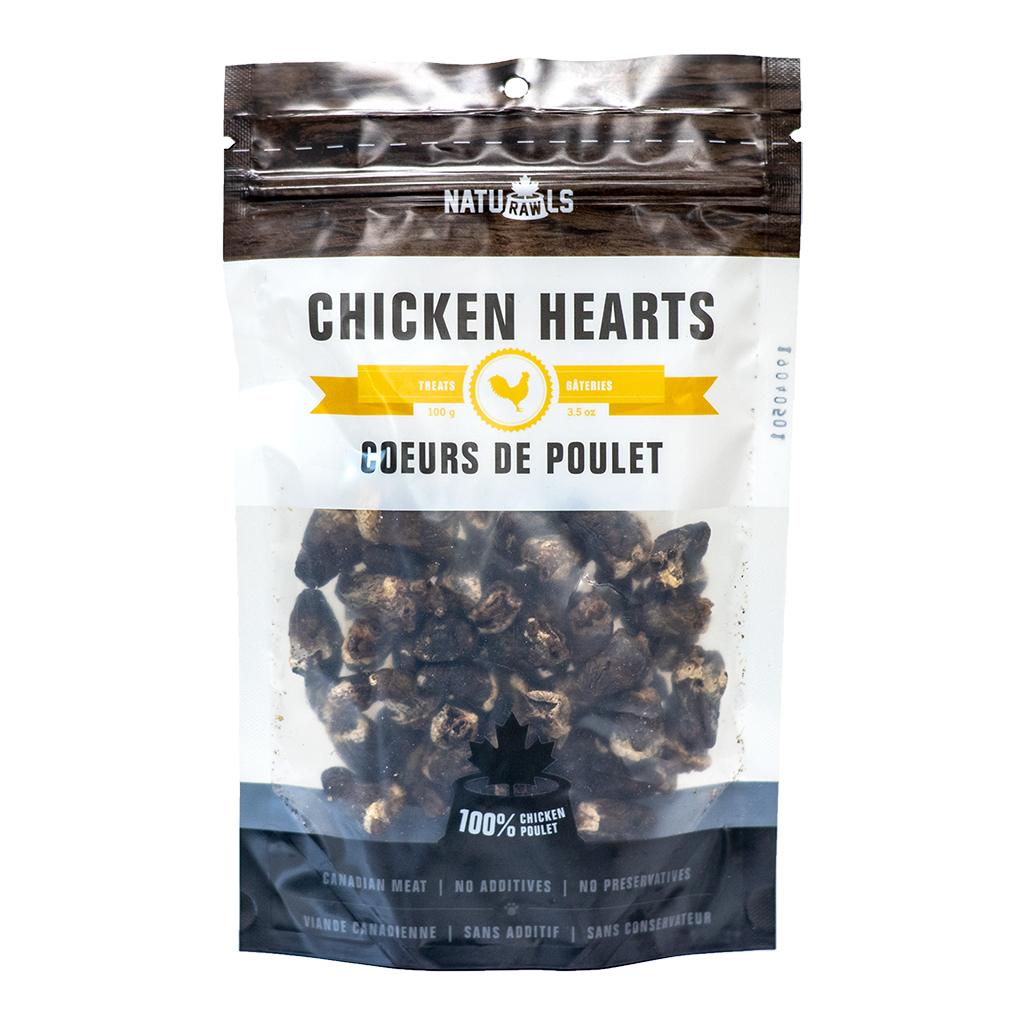 Naturawls Chicken Hearts Dehydrated Dog Treats, 100-gram