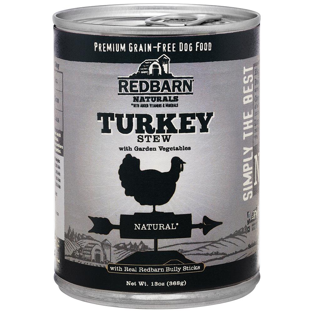 Redbarn Naturals Turkey Stew Grain-Free Canned Dog Food, 13-oz,