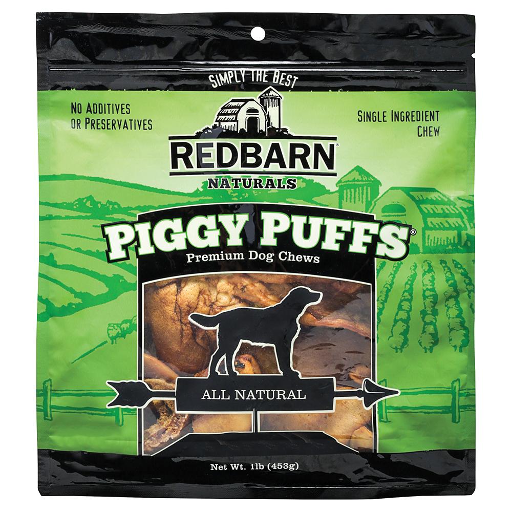 Redbarn Piggy Puffs Dog Treats, 1-Lb Bag