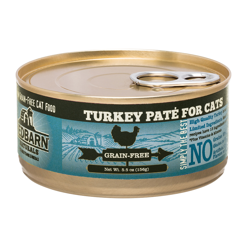 Redbarn Naturals Turkey Pate Grain-Free Canned Cat Food, 5.5-oz