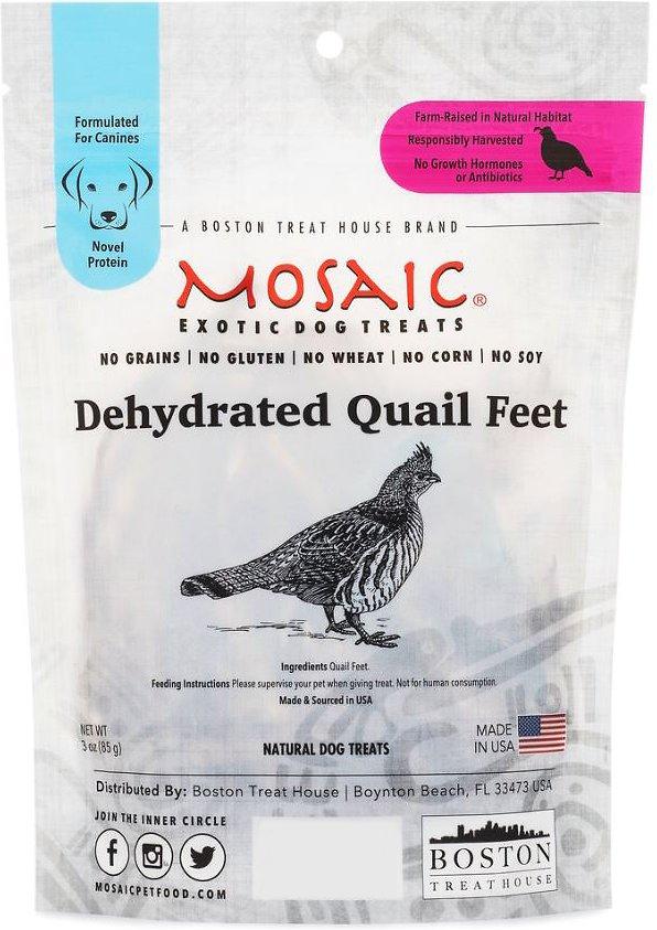 Mosaic Dehydrated Quail Feet Image
