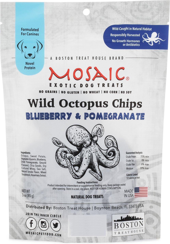 Mosaic Octopus Blueberry Pomegranate Dog Treats Image