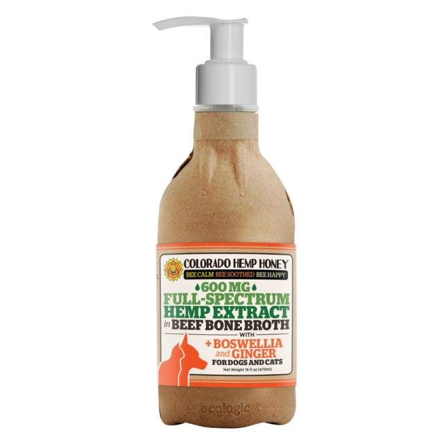 Colorado Honey Beef Bone Broth Alternative Supplement for Dogs & Cats, 16-oz