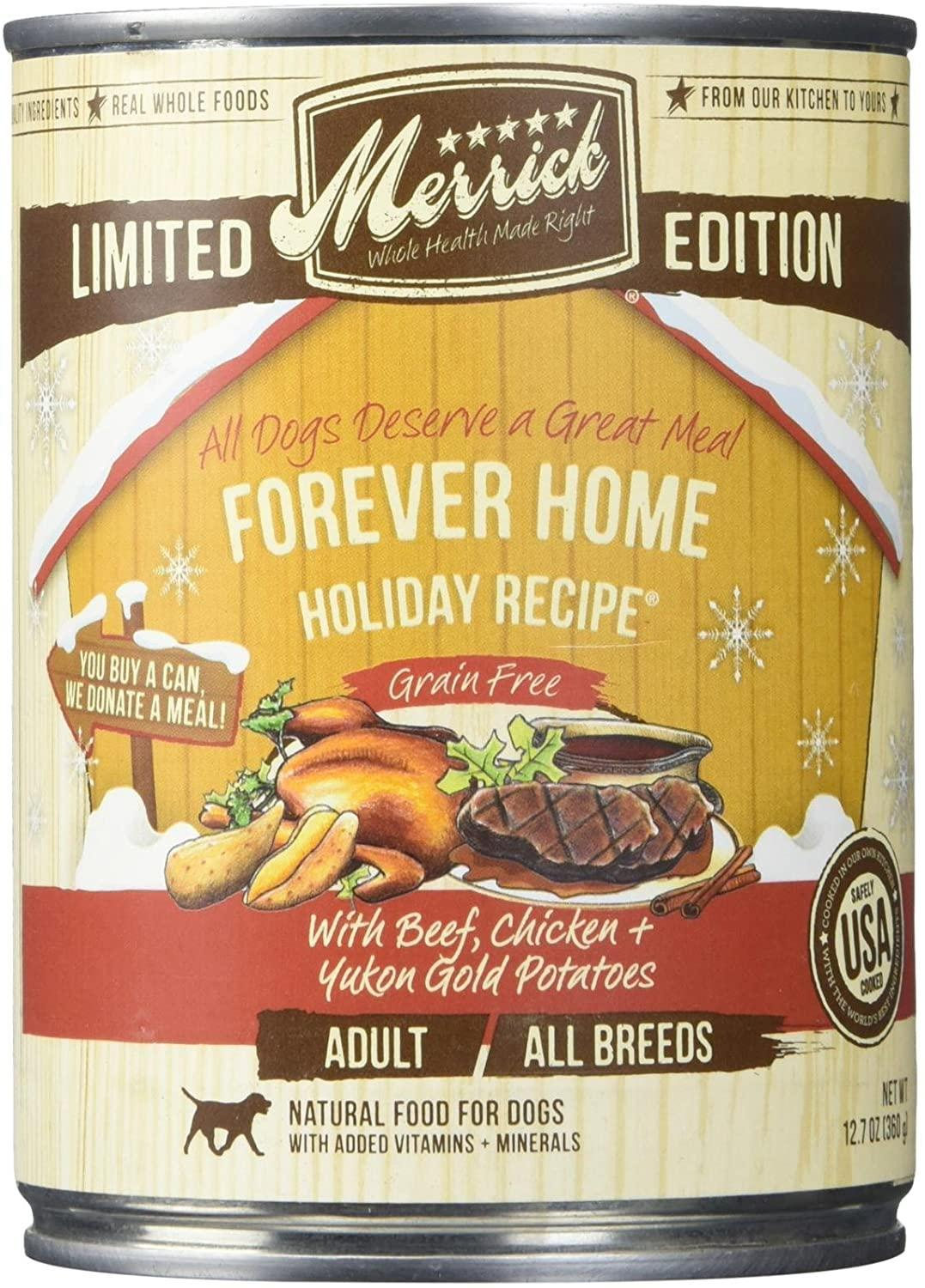 Merrick Limited Edition Forever Home Holiday Recipe Wet Dog Food, 12.7 oz