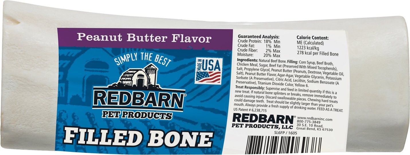 Redbarn Large Peanut Butter Filled Bones Dog Treats Image
