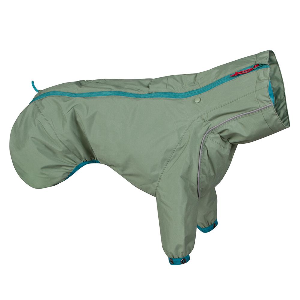 Hurtta Rain Blocker ECO, Dog Raincoat, Hedge, 10-in
