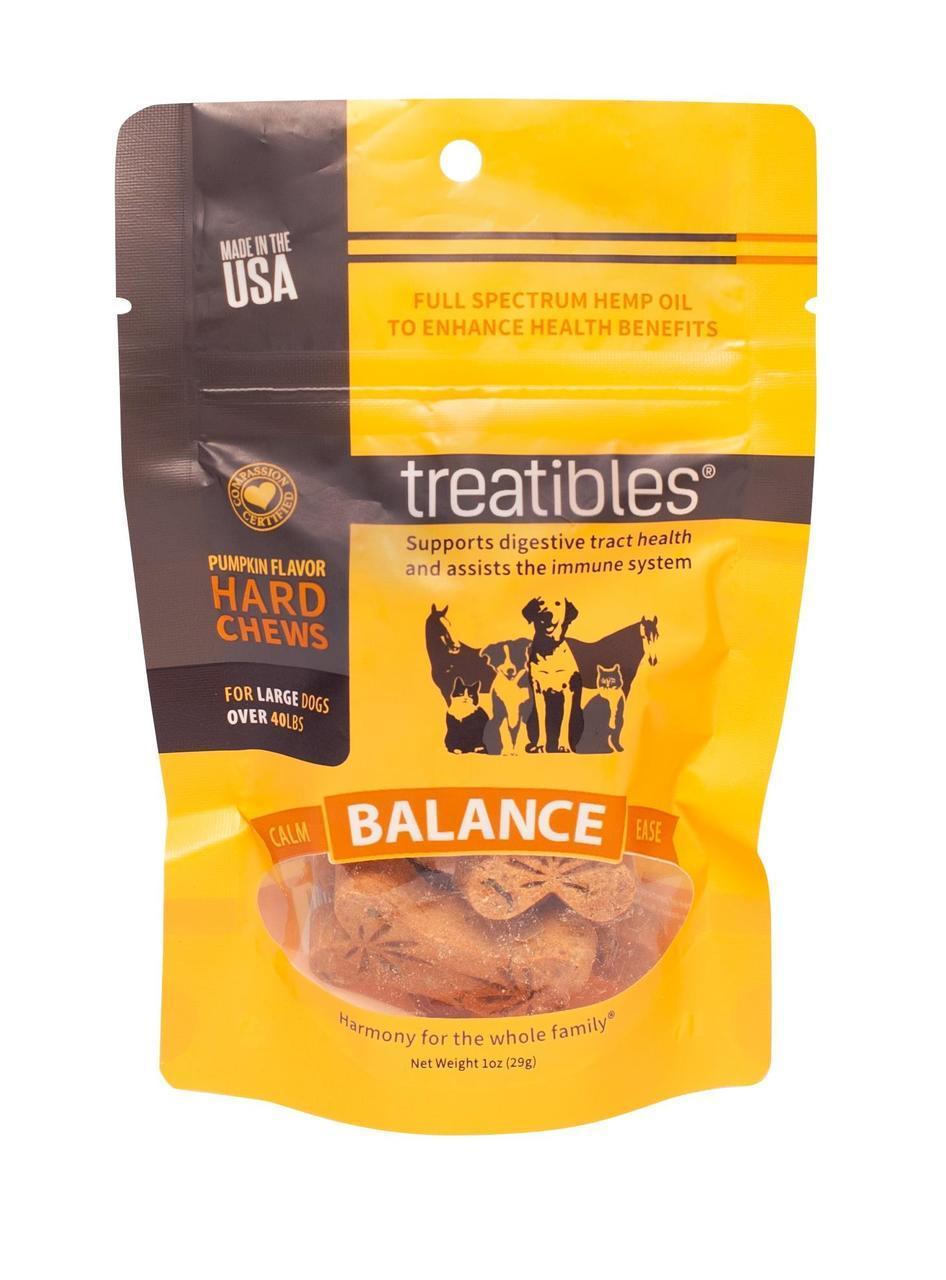 Treatibles Balance Pumpkin Alternative Supplement for Large Dogs, 4mg Image