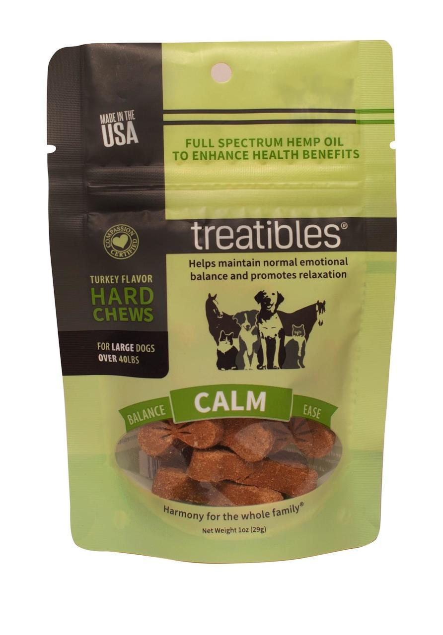 Treatibles Intro Hard Chews Calm Turkey Alternative Supplement for Dogs & Cats, 4mg, 7-count