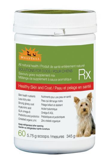 WellyTails  Healthy Skin & Coat Dog Supplement, 345-gram