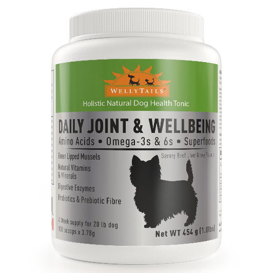 WellyTails  Daily Joint & Wellbeing Small Dog Supplement, 454-gram