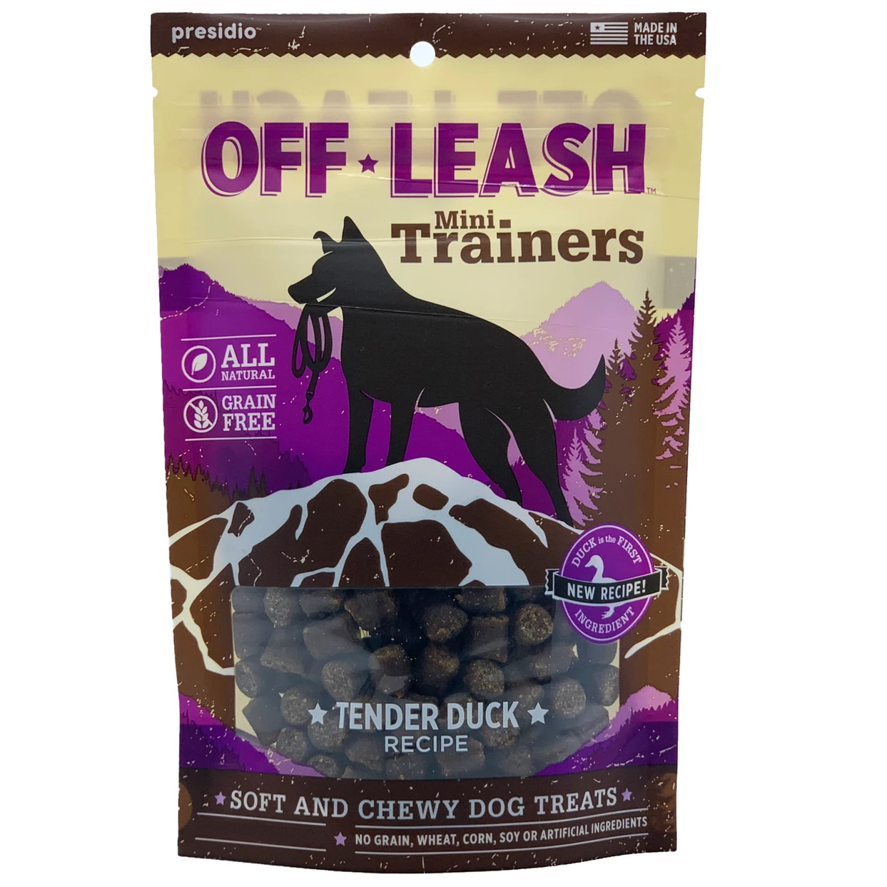 Off Leash Training Duck Dog Treats, 5-oz