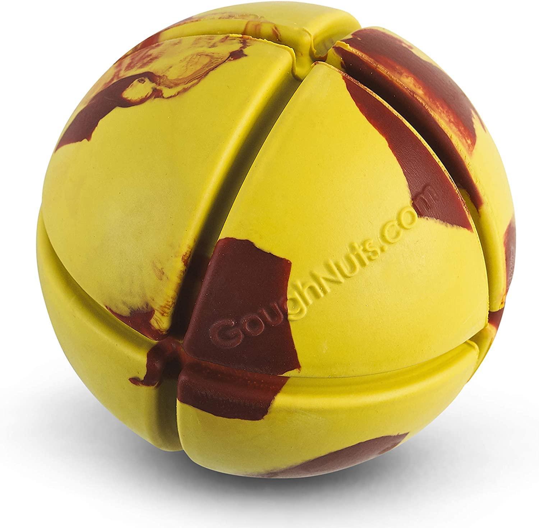 GoughNuts Ball Dog Toy, Yellow