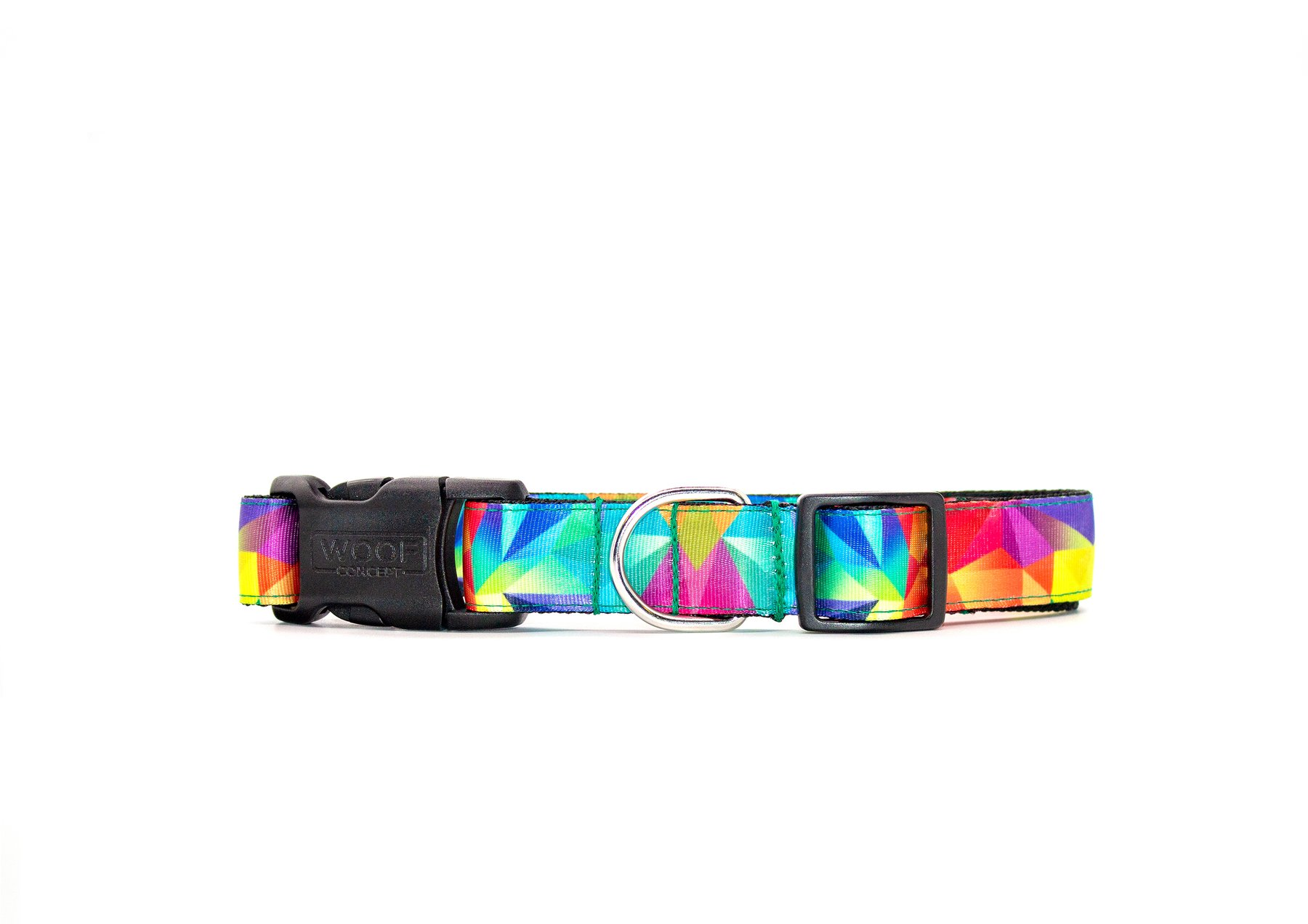 Woof Concept Dog Collar, Polygon, Small