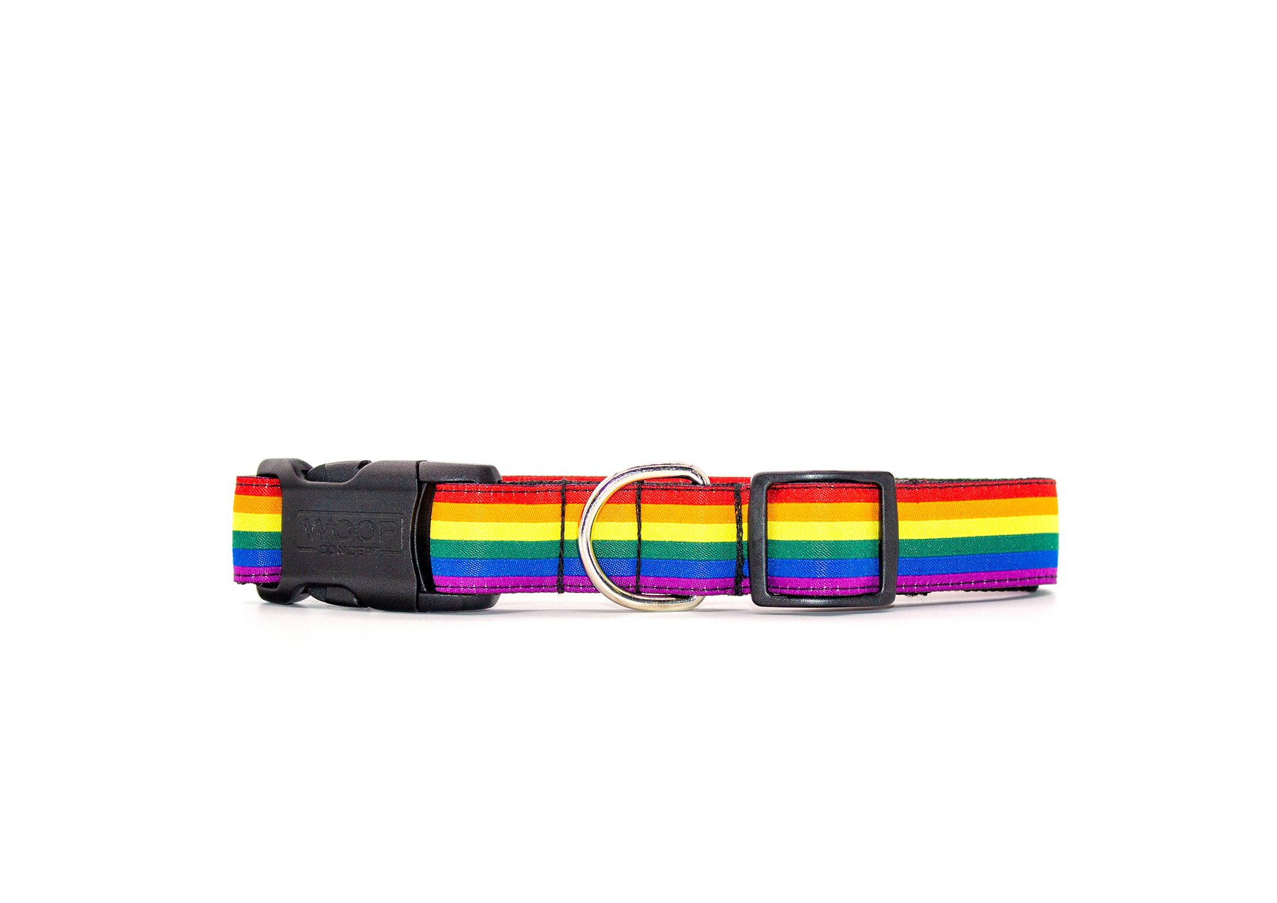 Woof Concept Dog Collar, Pride, Small