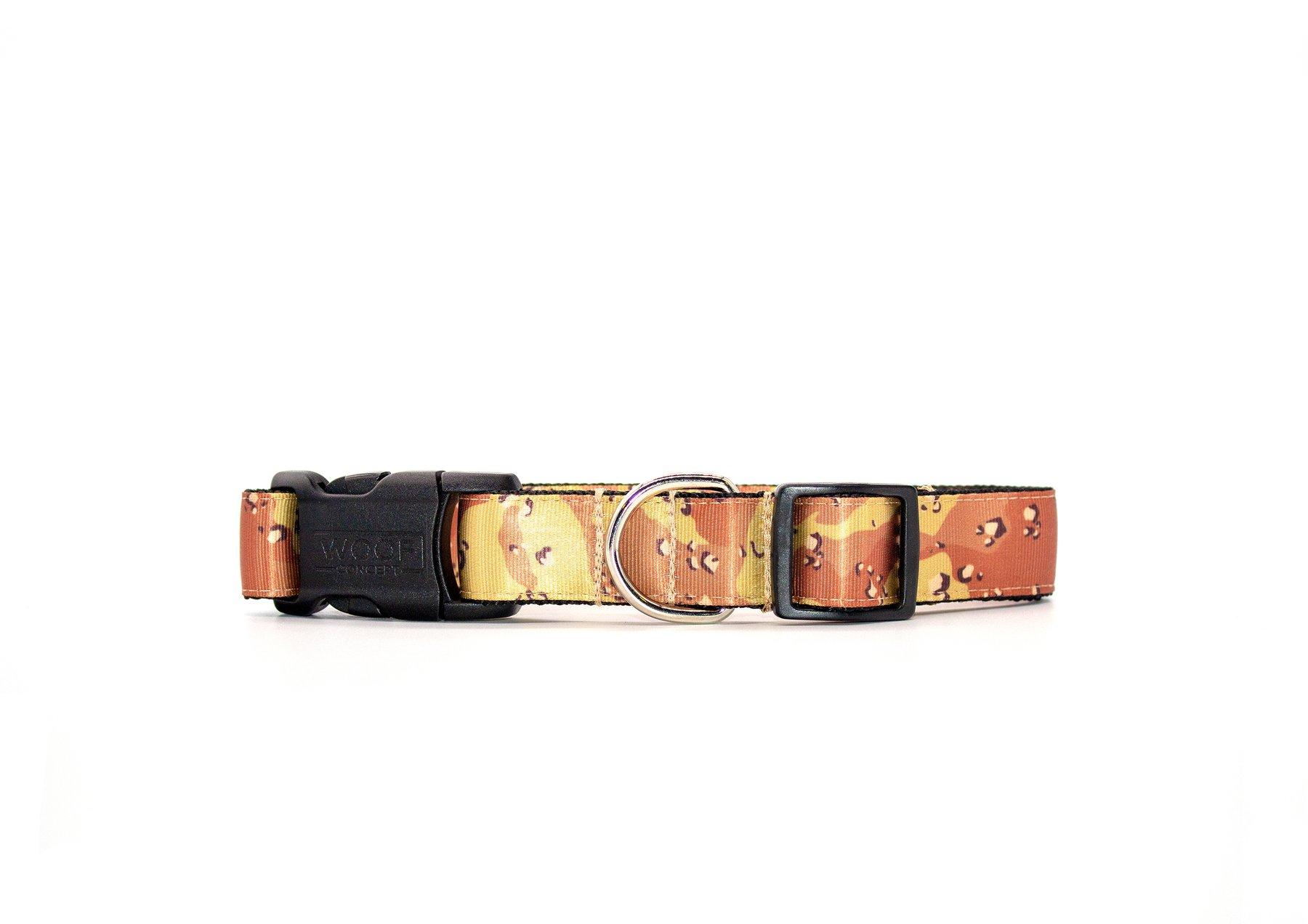Woof Concept Dog Collar, Desert Camo, Medium
