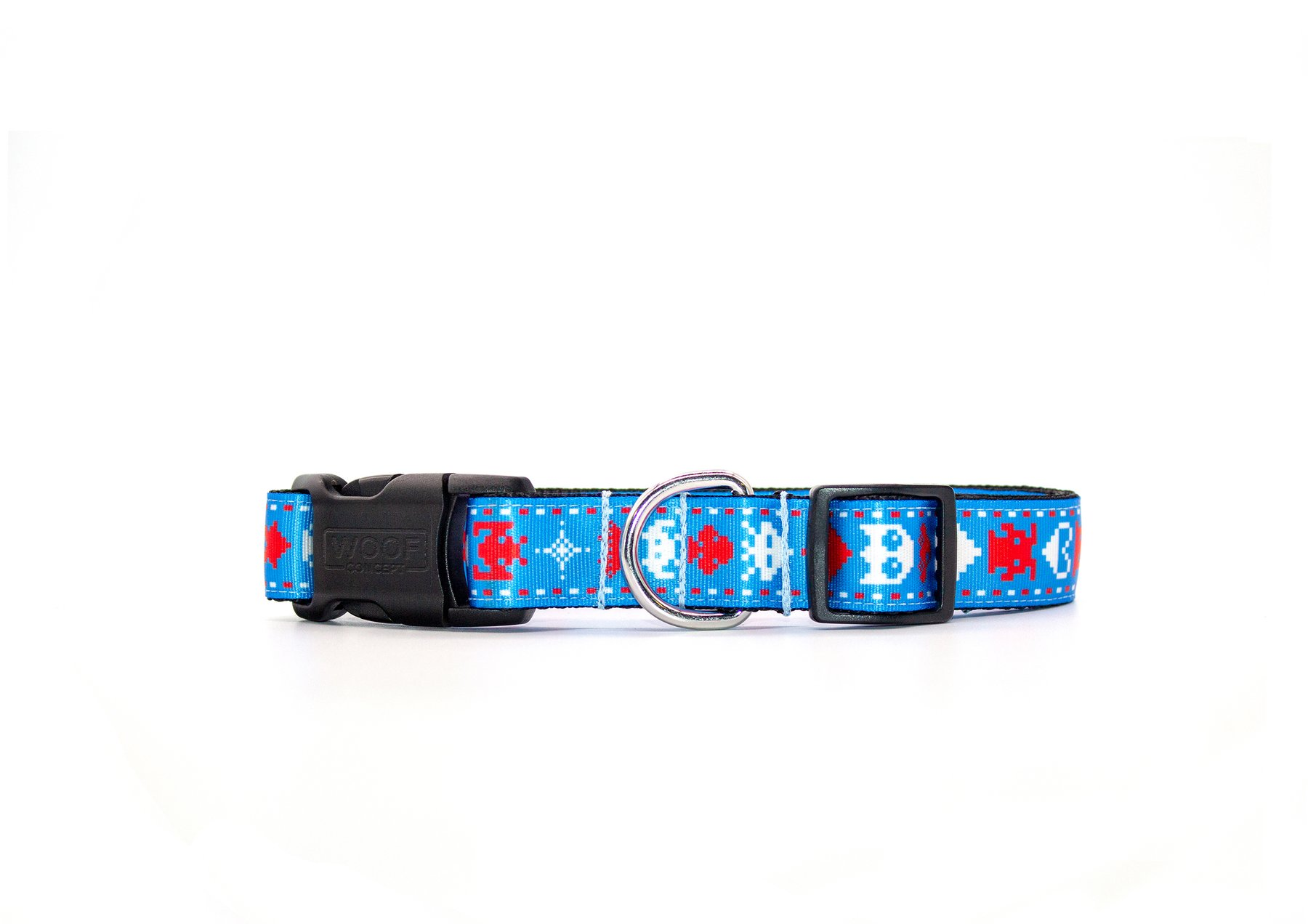 Woof Concept Dog Collar, Pixel, Small