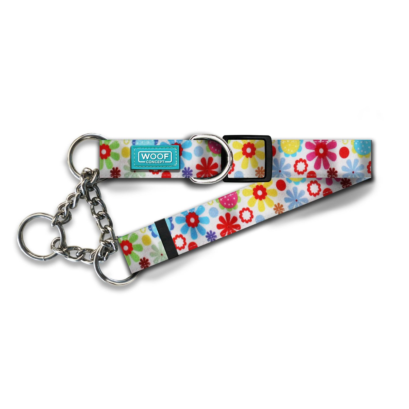 Woof Concept Martingale Dog Collar, Spring, Large