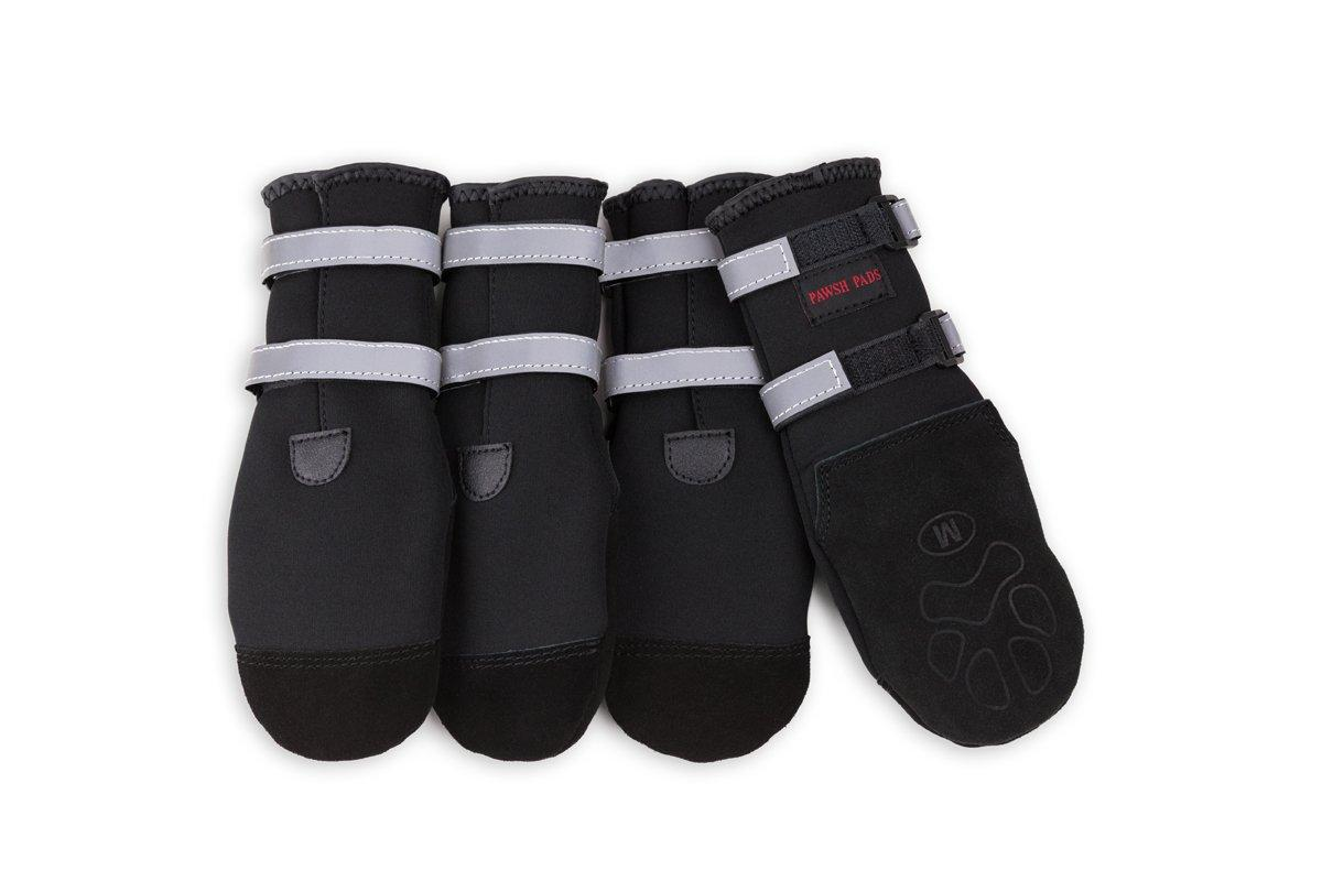 Pawsh Pads Paw Protectors Dog Boots, Black, Medium