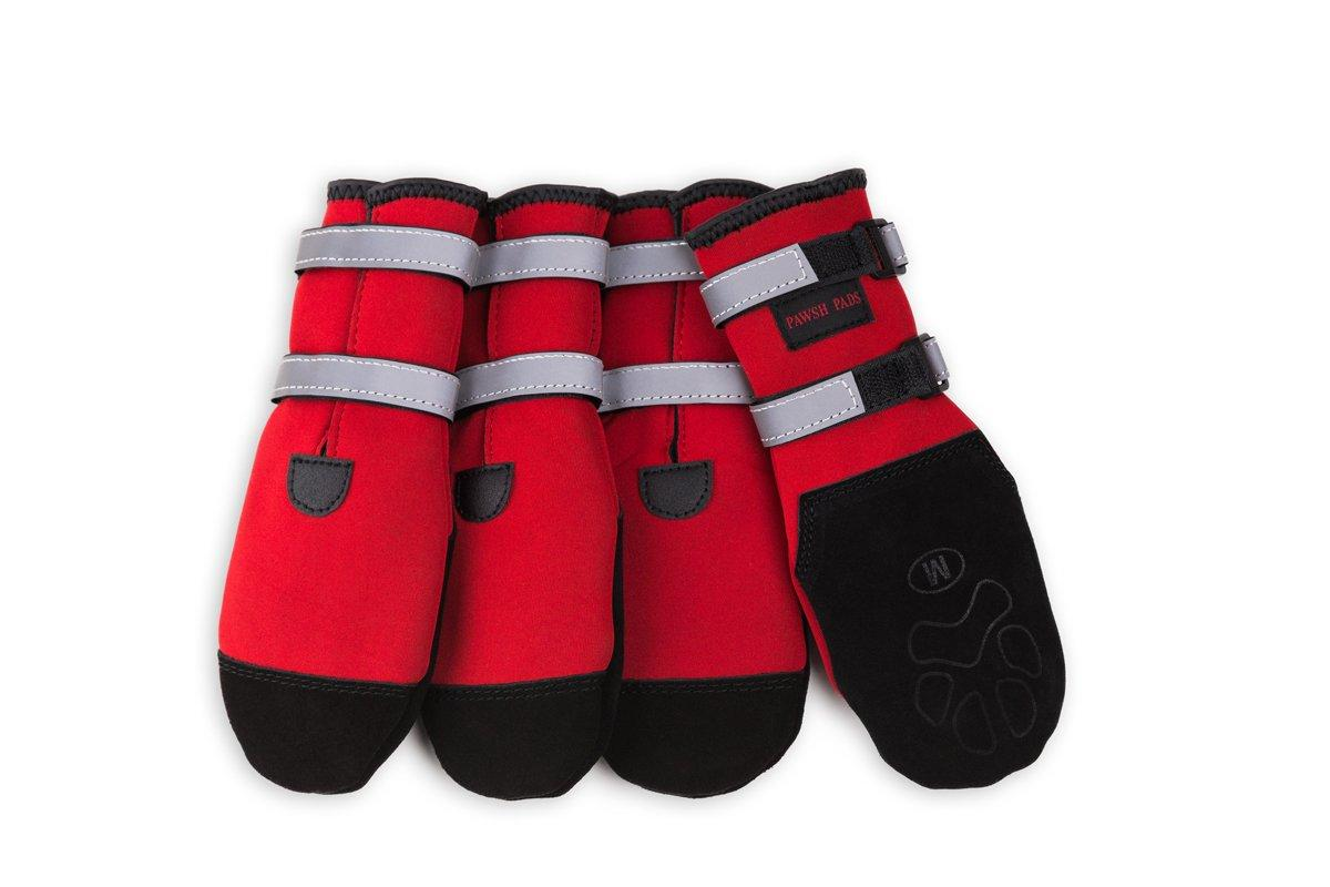 Pawsh Pads Paw Protectors Dog Boots, Red, Tiny